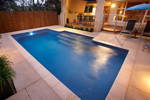 The Imperial 7m x 4m award-winning fibreglass swimming pool