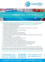 Fibreglass Pools Standard Inclusions