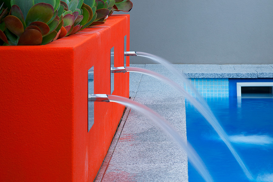 Water features are a great way to finish off your backyard.
