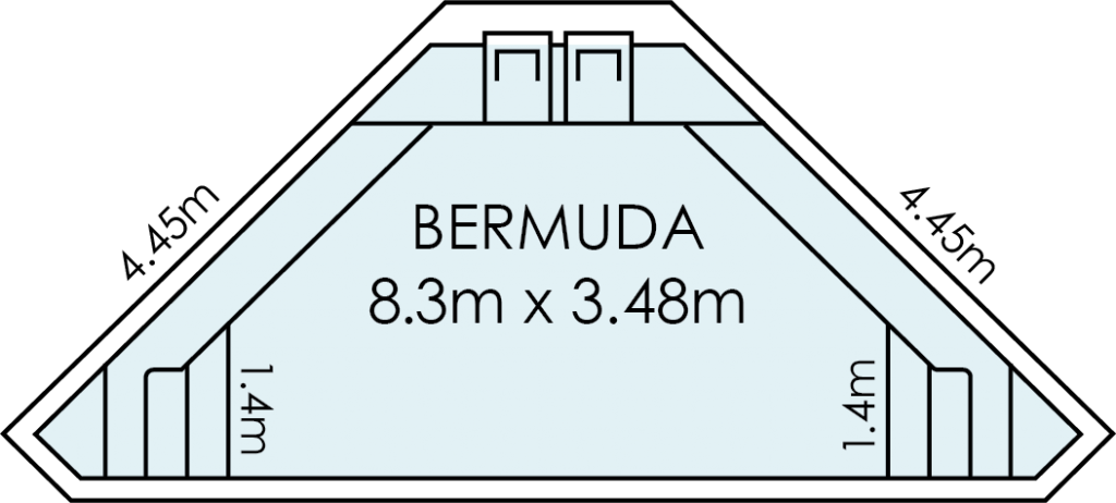 Bermuda Fibreglass Swimming Pool