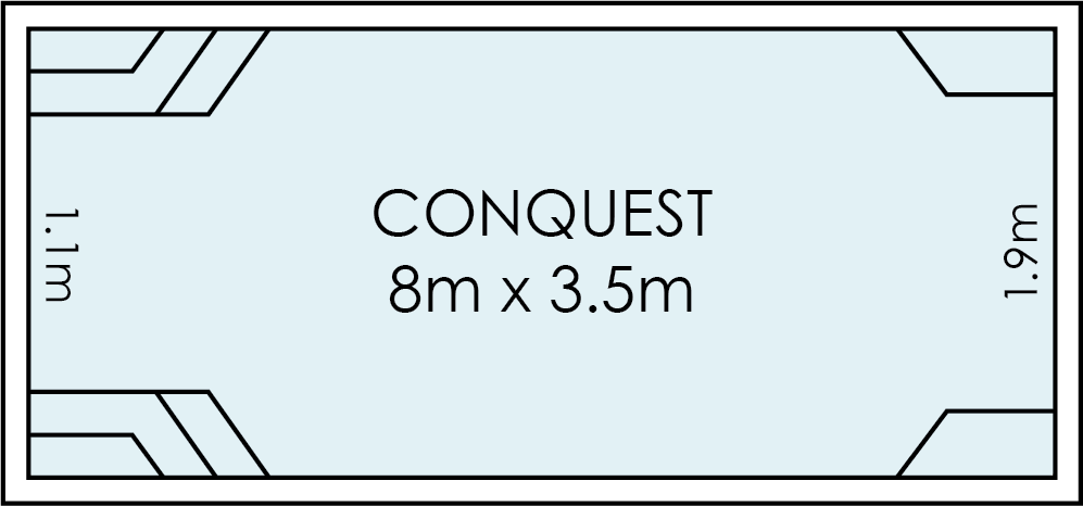 Conquest Fibreglass Swimming Pool