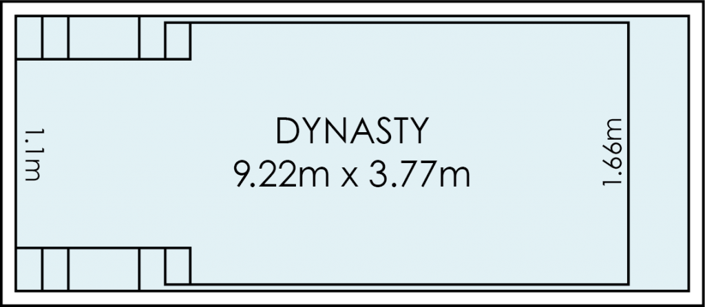 Dynasty Fibreglass Swimming Pool