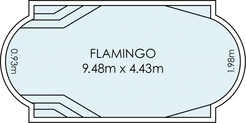 Flamingo Fibreglass Swimming Pool