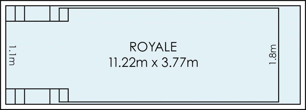 Royale Fibreglass Swimming Pool