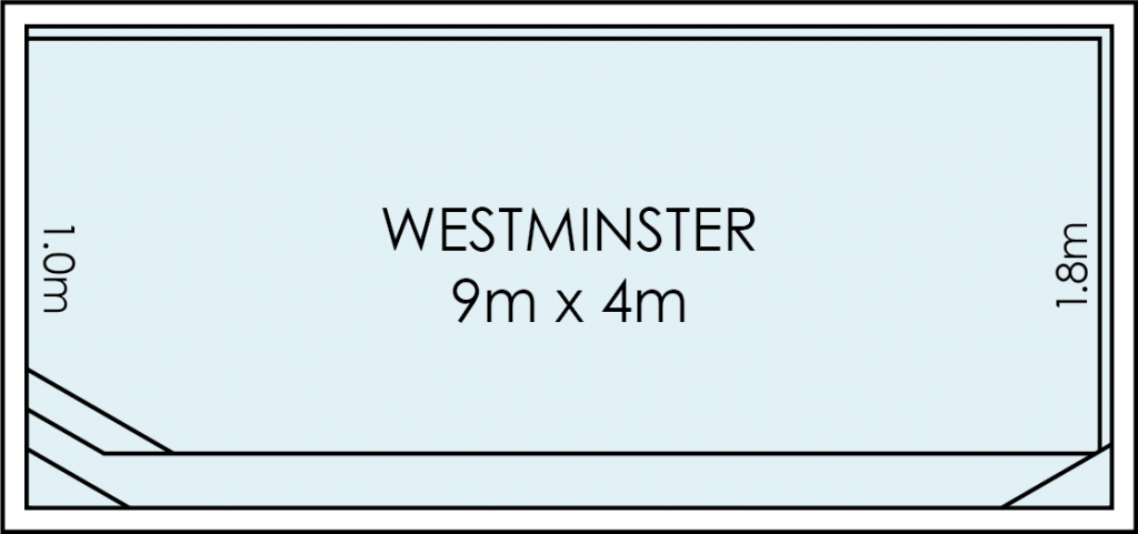 Westminster Fibreglass Swimming Pool