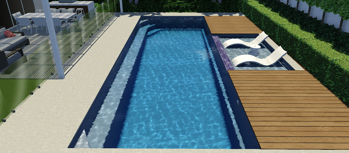 Westminster Swimming Pool with Aqua Ledge