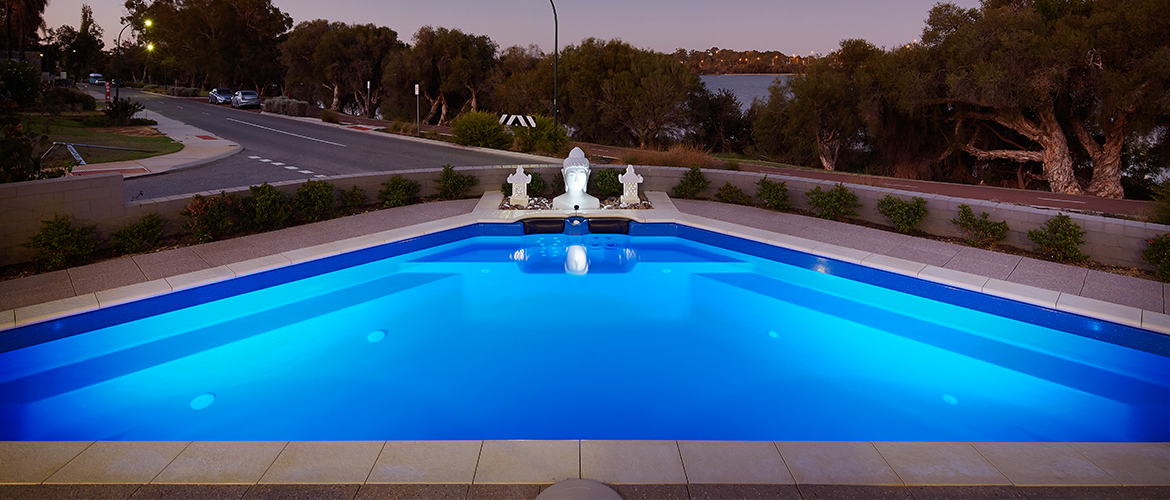 """Bermuda"" fibreglass pool design in Perth"