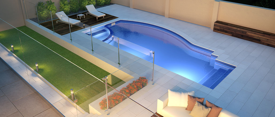 """""""The Wave"""" Pool Design - a perfect all-round pool for backyard entertaining"""